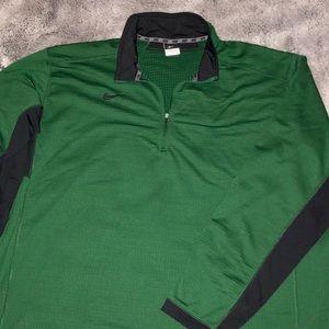 Nike dri fit quarter zip pullover hunter Green